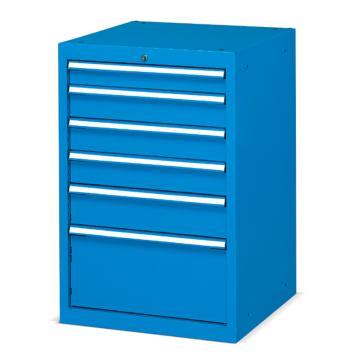 固定式工具柜,(六个抽屉)100kg 蓝色