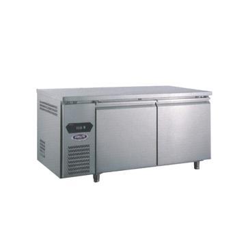广东星星 格林斯达A系二门风冷工作台,TZ300A2F,1500×760×800mm,内外箱304#不锈钢,环保冷媒