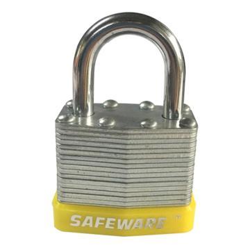 安赛瑞 钢制千层安全挂锁-黄,锁梁Ф6mm,锁体长37mm,锁杆长度25mm,14706