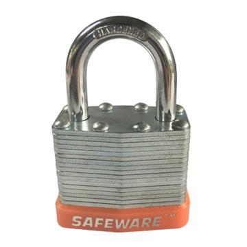 安赛瑞 钢制千层安全挂锁-橙,锁梁Ф6mm,锁体长37mm,锁杆长度25mm,14710