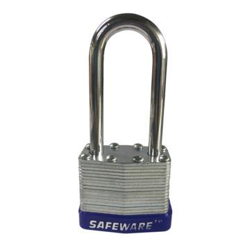 安赛瑞 长梁钢制千层安全挂锁-蓝,锁梁Ф6mm,锁体长37mm,锁杆长度52mm,14714