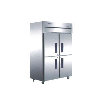 广东星星 格林斯达C系 四门冷冻柜,D1.0C4 ,1220×730×1940mm,内外箱201#不锈钢,铜管蒸发器,自动回归门,中梁带发热丝,黑色塑料把手