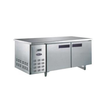 广东星星 格林斯达C系 二门冷冻工作台,TD400C2 ,1800×760×800mm,内外箱201#不锈钢,铜管蒸发器,自动回归门,中梁带发热丝,黑色塑料把手