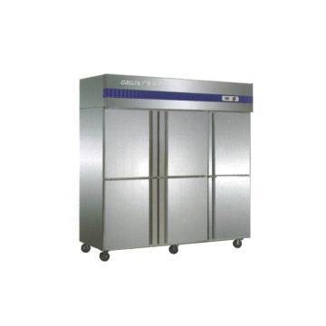 广东星星 格林斯达E系 六门双机单温柜,D1.6E6-GX,1810×692×1910mm,内外箱201#不锈钢