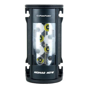 FoxFury Nomad NOW 便携式移动照明LED灯 200-400-102(一对一遥控款),含一对多遥控器配件包:磁力吸附板单1块、AC/DC电源适配器、AC电源线、12VDC车载点烟头、螺钉