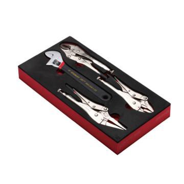 史丹利EVA工具托组套-4件大力钳及活动扳手,90-037-23