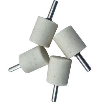 白刚玉打磨头,圆柱形,Φ20*L32mm,柄径6mm