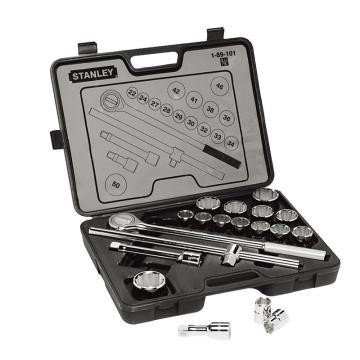 史丹利19件套19MM系列公制扳手套筒组套,89-101-23C