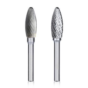火炬形硬质合金旋转锉,刃径14mm 刃长30mm 柄径6mm,总长70mm,单槽刃
