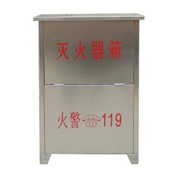 干粉灭火器箱,3kg*2,0.8mm厚304不锈钢(±0.15mm),55×32×16cm(高×宽×深)(仅限华南、西南、湖南、湖北、陕西、安徽地区)