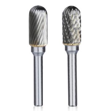 球柱形硬质合金旋转锉,刃径14mm 刃长25mm 柄径6mm,总长65mm,单槽刃
