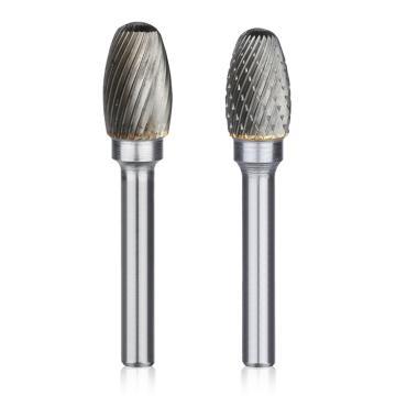 椭圆形硬质合金旋转锉,刃径6mm 刃长10mm 柄径6mm,总长60mm,单槽刃