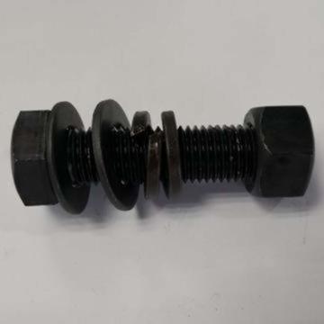 8.8级发黑外六角全牙螺栓,M24*70,一平一弹一螺母,50套/箱