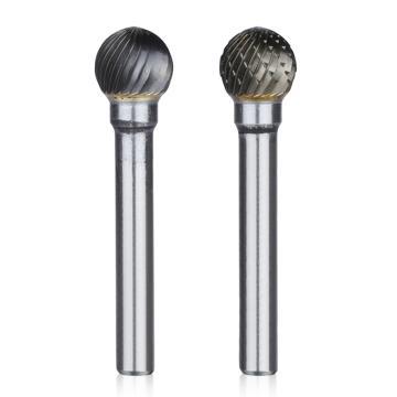 圆球形硬质合金旋转锉,刃径3mm 刃长2.7mm 柄径3mm,总长50mm,单槽刃