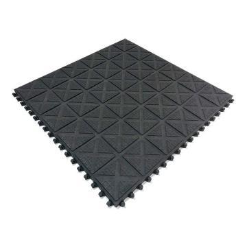 英迪强力耐油地垫舒适版 黑色 50cm*50cm*18mm