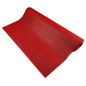 愛柯部落疏水防滑地墊,卷材PVC 紅色,1.2m*15m*5mm,單位:卷