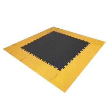 爱柯部落耐磨耐压防滑工业地板砖,PVC灰色圆点500*500*6.5mm,单位:片