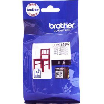 兄弟(brother)墨盒 适配机型MFC-J3930DW 3530DW 2330 2730打印机 LC3919BK--黑色