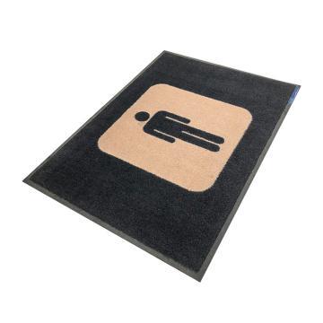 爱柯部落洗手间标示垫,(男)85*60cm*1cm 单位:片