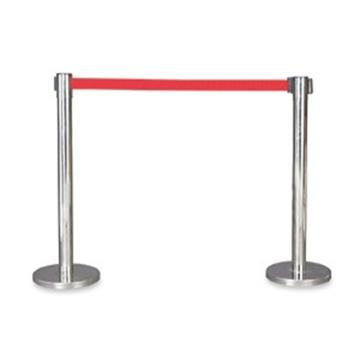 襄辰 不锈钢伸缩护栏,红色护栏带,带长2m,高910mm,直径63mm,HL002