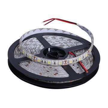 LED彩色灯带 24V低压彩色灯带 输入电压24V, 5050滴胶防水,含手动控制器, 灯带长度5米(5米1卷)