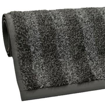 特级刮尘吸水地垫, 深灰色  PVC底 200*240cm*1cm(条纹长度2.4m)