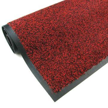 吸水控尘垫,耐用吸水控尘尼龙橡胶地垫  红黑色150cm*240cm*1cm