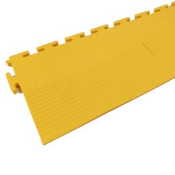 爱柯部落耐磨耐压防滑工业地板砖边条,PVC  500*120mm 单位:片