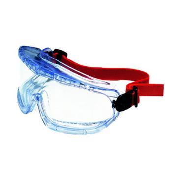 霍尼韦尔Honeywell 防化护目镜,1007506,防雾镜片 大视角 橡胶头带