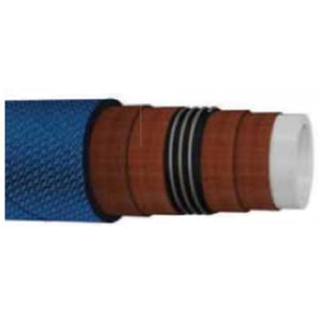 Delox 食品级UPE化学溶剂管,UCH-102,内径:102,外径:118;颜色:蓝色布纹;材质:白色EPDM橡胶内衬UPE材料;使用温度范围(℃):-30℃到 +120℃