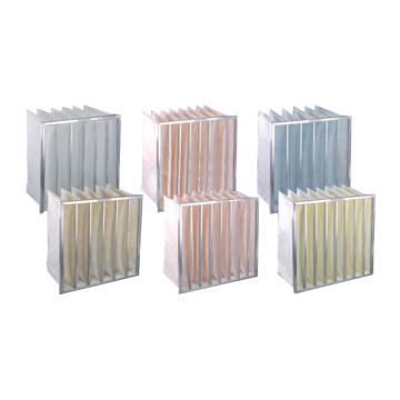 JAF 铝框中效袋式过滤器,宽*高*厚度592*592*381mm,过滤效率F7,板框厚度21mm,袋数6个