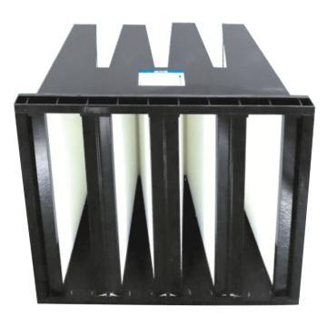 JAF 塑料框V型过滤器,宽*高*厚度592*592*292mm,过滤效率H10,板框厚度25mm,滤块4V
