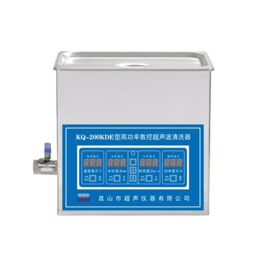 KQ-200KDE型超声波清洗机,40KHz,室温-80℃,容量:6L