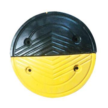 人字形橡胶减速带端头,长180×宽330×高45mm(含安装配件)