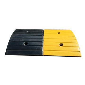 Raxwell 条纹形橡胶减速带,长500×宽300×高30mm(不含端头,含安装配件)