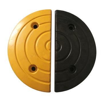 条纹形橡胶减速带端头(黄+黑),长170×宽300×高30mm(含安装配件,配合减速带AQE383使用)