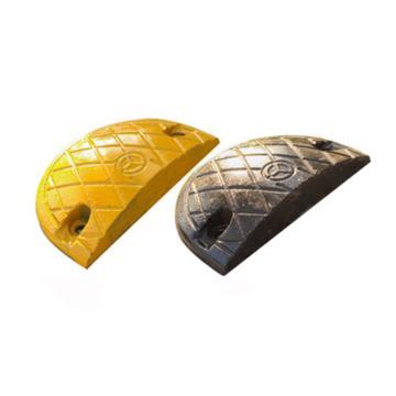 铸钢烤漆减速带端头(黄+黑),长180×宽350×高50mm(含安装配件,配合减速带AQE385使用)