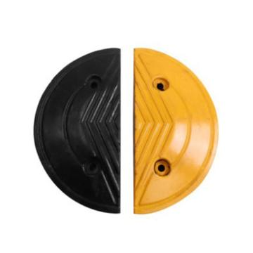 波浪型加宽减速带端头,长180×宽380×高50mm(含安装配件,配合减速带AQE387使用)