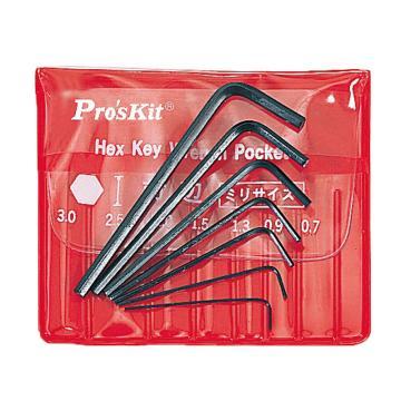 宝工 Pro'skit 迷你六角扳手组,7支组,8PK-022