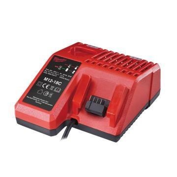 美沃奇(原品牌名:米沃奇)充電器,適用于12V、14.4V、18V鋰電池,M12-18 C