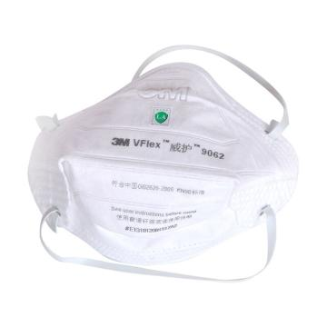3M 9062 KN90自吸过滤式防颗粒物呼吸器,25个/袋