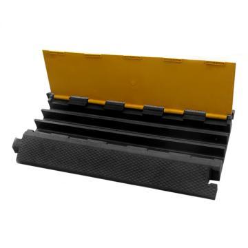 三槽电缆保护座,长900×宽500×高75mm,内槽尺寸:宽65mm×高55mm