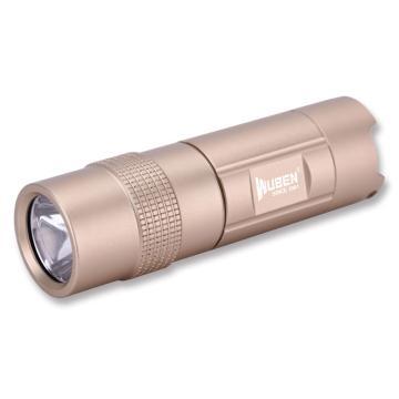 务本 LED可充电旋转调光手电筒,300lm,E347沙漠黄,含16340锂电池、钥匙扣、USB线,单位:个