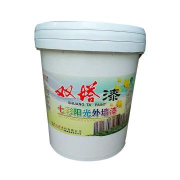 双塔 七彩阳光外墙漆,海灰,20kg/桶
