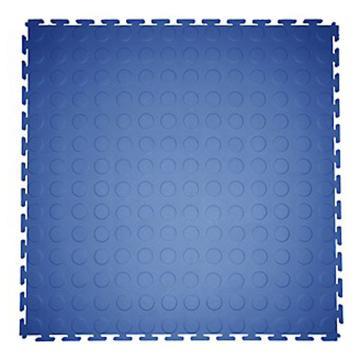 爱柯部落 耐磨耐压防滑工业地板砖,PVC 蓝色圆点500*500*6.5mm 单位:块