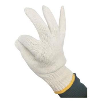 佳盾 纱线手套,7000型,700克本白全棉纱线手套,12副/打
