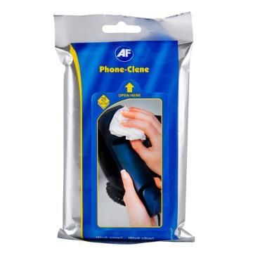 AF电话清洁巾 杀菌型电话清洁擦纸(25片/袋) 单位:袋