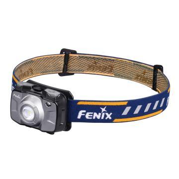 Fenix 菲尼克斯 HL30 2018升级款头灯 外观颜色灰色 户外头灯 红白双光源 LED防水头灯 300流明 含防水圈1 PCS,AA电池2个(替代HL30 2015香槟金),单位:个