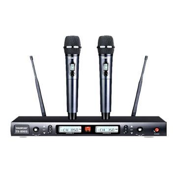 得胜(Takstar) 专业U段一拖二无线话筒,家用KTV麦克风 TS-8903 单位:台