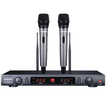 得勝(Takstar) 一拖二無線話筒,U段舞臺演出K歌500米專業麥克風 X760HH 單位:臺
